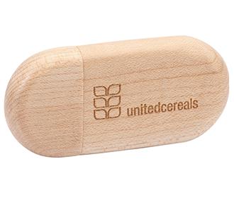 USB флаш памет Woody Oval