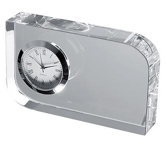 Стъклен куб с часовник 27503
