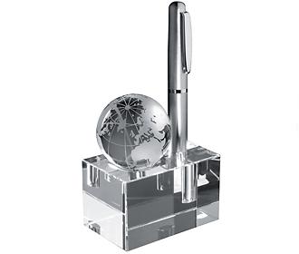 Стъклен куб с глобус 27505