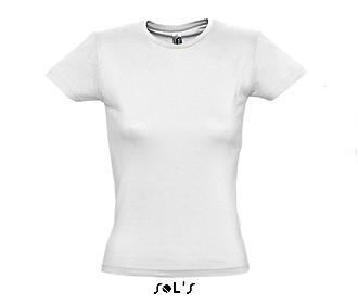 Тениска Sols 11386 - бяла
